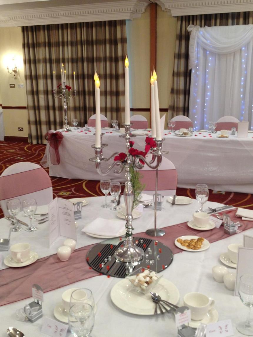 Wedding Table Wedding Table Decorations Hire table centrepiece hire wedding ideas liverpool candelabra liverpoolwedding decorations chair cover backdrop hir