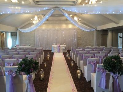Wedding Ceiling Drapes with lights