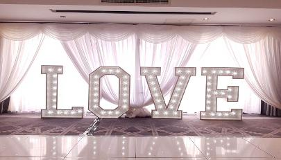 Light Up LOVE Letters to hire, Formby, Wirral, Southport, Chester, Preston, Lancashire, Liverpool