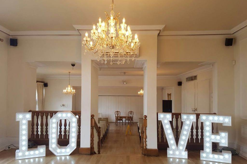 Large LOVE Letter hire - West Tower Hotel