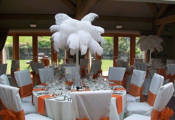 Ostrich Feather Hire Wedding Decoration