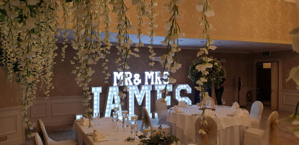 Surname in Lights Mr & Mrs