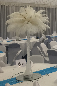 Stunning Feather Table Centrepiece