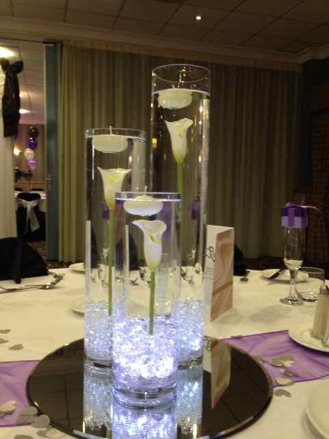 3 Cylinder VASE tABLE cENTREPIECE TO HIRE, LIVERPOOL, WIRRAL, CHESHIRE, LANCASHIRE