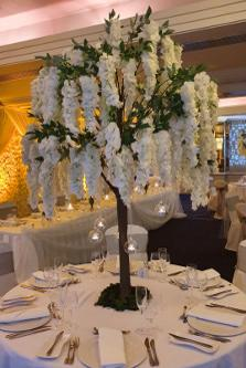 180cm Hanging Wisteria Tree Wedding Table Centrepiece