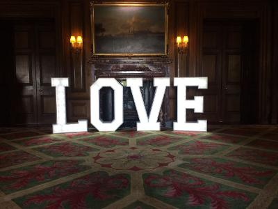 Light Up LOVE Letters to hire in Liverpool