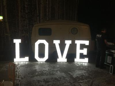 Light Up Wedding LOVE Letter Hire