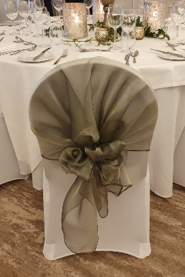 Wedding Chair Cover Hood Rowton Hall Chester