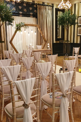 Rowton Hall Ruscus Green Trees Wedding Ceremony Chester