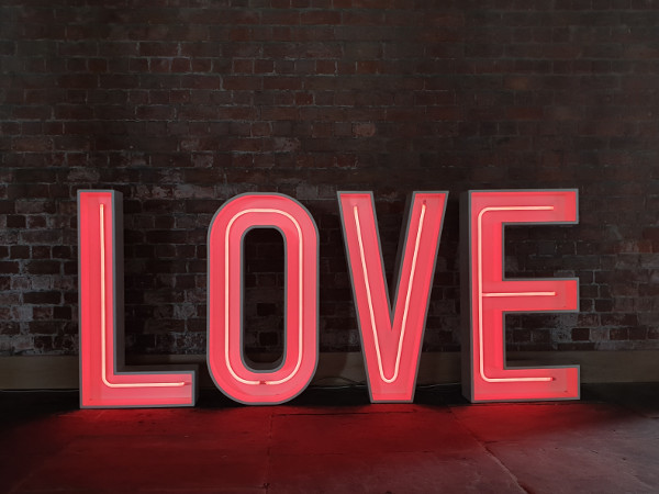 Titanic West Bay Neon LOVE Letters